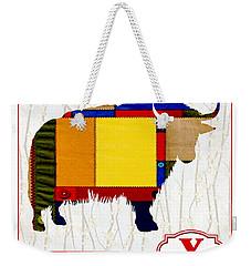 Y Is For Yak Weekender Tote Bag by Elaine Plesser