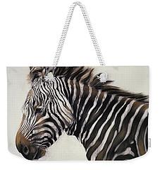Zebra  Weekender Tote Bag by Odile Kidd