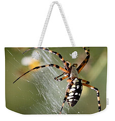 Zipper Spider In The Swamp Weekender Tote Bag by Carol Groenen