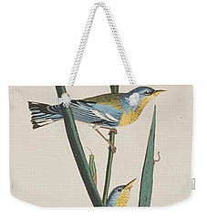 Blue Yellow-backed Warbler Weekender Tote Bag by John James Audubon