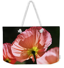 Icelandic Poppies Weekender Tote Bag by Rona Black