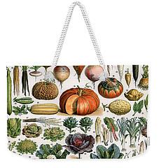 Illustration Of Vegetable Varieties Weekender Tote Bag by Alillot
