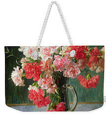 Still Life Of Carnations   Weekender Tote Bag by Emile Vernon