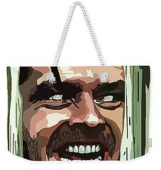 008. Heres Johnny Weekender Tote Bag by Tam Hazlewood