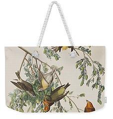 American Crossbill Weekender Tote Bag by John James Audubon