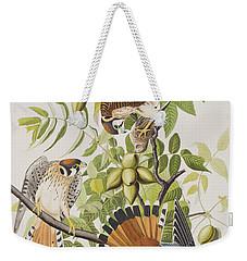 American Sparrow Hawk Weekender Tote Bag by John James Audubon