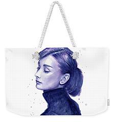 Audrey Hepburn Portrait Weekender Tote Bag by Olga Shvartsur