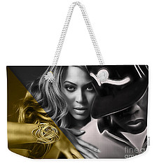 Beyonce Jay Z Collection Weekender Tote Bag by Marvin Blaine