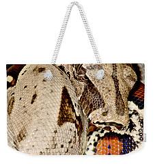 Boa Constrictor Weekender Tote Bag by Dant� Fenolio