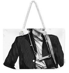 Bob Dylan Drawing Art Poster Weekender Tote Bag by Kim Wang