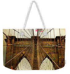 Brooklyn Bridge Twilight Weekender Tote Bag by Jessica Jenney