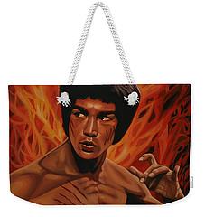 Bruce Lee Enter The Dragon Weekender Tote Bag by Paul Meijering