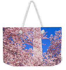 Cherry Blossoms And Washington Weekender Tote Bag by Panoramic Images