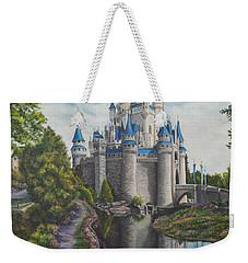Cinderella Castle  Weekender Tote Bag by Charlotte Blanchard