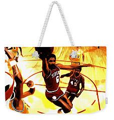 Doctor J Weekender Tote Bag by Brian Reaves