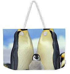 Emperor Penguin Aptenodytes Forsteri Weekender Tote Bag by Konrad Wothe