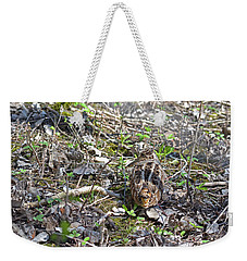 Eye-contact With The American Woodcock Weekender Tote Bag by Asbed Iskedjian