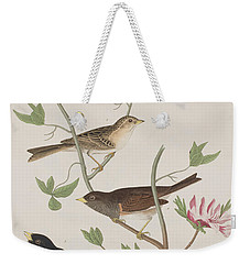 Finches Weekender Tote Bag by John James Audubon