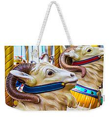 Goat Carrousel Ride Weekender Tote Bag by Garry Gay