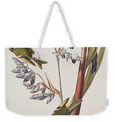 Golden-crested Wren Weekender Tote Bag by John James Audubon