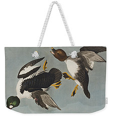 Golden-eye Duck  Weekender Tote Bag by John James Audubon