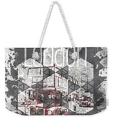 Graphic Art London Streetscene Weekender Tote Bag by Melanie Viola