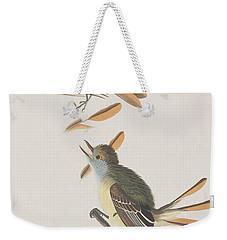 Great Crested Flycatcher Weekender Tote Bag by John James Audubon