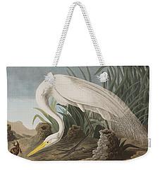 Great Egret Weekender Tote Bag by John James Audubon