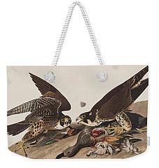 Great-footed Hawk Weekender Tote Bag by John James Audubon