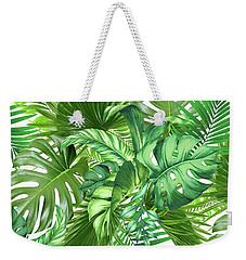 Green Tropic  Weekender Tote Bag by Mark Ashkenazi
