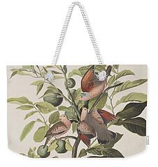 Ground Dove Weekender Tote Bag by John James Audubon