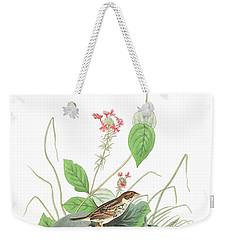 Henslow's Bunting  Weekender Tote Bag by John James Audubon