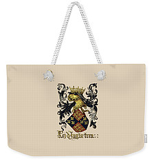 King Of England Coat Of Arms - Livro Do Armeiro-mor Weekender Tote Bag by Serge Averbukh