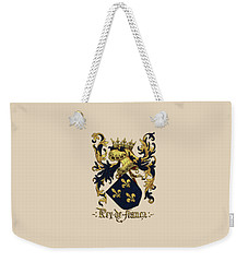 King Of France Coat Of Arms - Livro Do Armeiro-mor  Weekender Tote Bag by Serge Averbukh