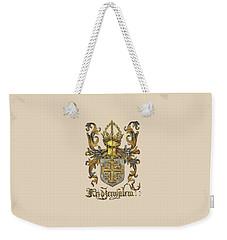 Kingdom Of Jerusalem Coat Of Arms - Livro Do Armeiro-mor Weekender Tote Bag by Serge Averbukh