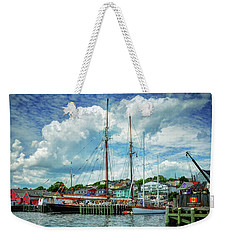 Weekender Tote Bag featuring the photograph Lunenburg Harbor by Rodney Campbell