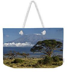 Mount Kilimanjaro Weekender Tote Bag by Michele Burgess