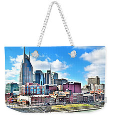 Nashville From Above Weekender Tote Bag by Frozen in Time Fine Art Photography