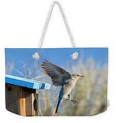 Nest Builder Weekender Tote Bag by Mike Dawson