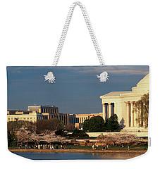 Panoramic View Of Jefferson Memorial Weekender Tote Bag by Panoramic Images
