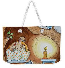 Peter Rabbit And His Dream Weekender Tote Bag by Irina Sztukowski