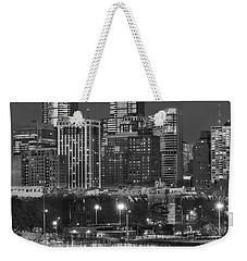 Philly Skyline Full Moon Weekender Tote Bag by Susan Candelario