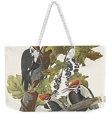 Pileated Woodpecker Weekender Tote Bag by John James Audubon
