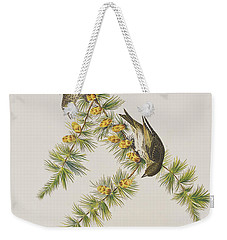 Pine Finch Weekender Tote Bag by John James Audubon