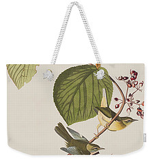 Pine Swamp Warbler Weekender Tote Bag by John James Audubon