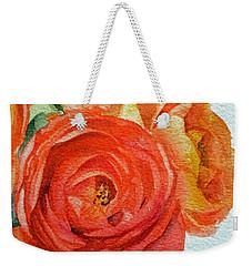 Ranunculus Weekender Tote Bag by Irina Sztukowski