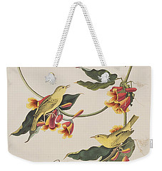 Rathbone Warbler Weekender Tote Bag by John James Audubon