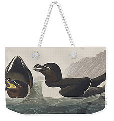 Razor Bill Weekender Tote Bag by John James Audubon