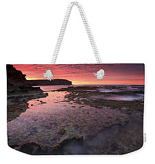 Red Sky At Morning Weekender Tote Bag by Mike  Dawson