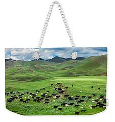 Salt And Pepper Pasture Weekender Tote Bag by Todd Klassy